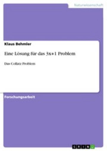 eBook Eine Lösung für das 3x+1 Problem Cover