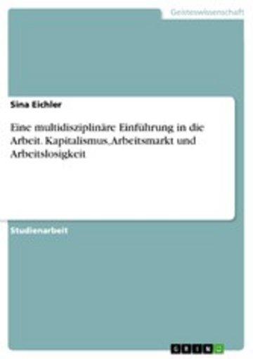 eBook Eine multidisziplinäre Einführung in die Arbeit. Kapitalismus, Arbeitsmarkt und Arbeitslosigkeit Cover