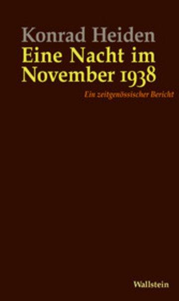 eBook Eine Nacht im November 1938 Cover