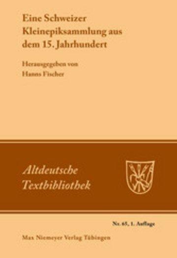 eBook Eine Schweizer Kleinepiksammlung aus dem 15.Jahrhundert Cover