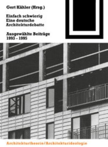 eBook Einfach schwierig. Eine deutsche Architekturdebatte Cover