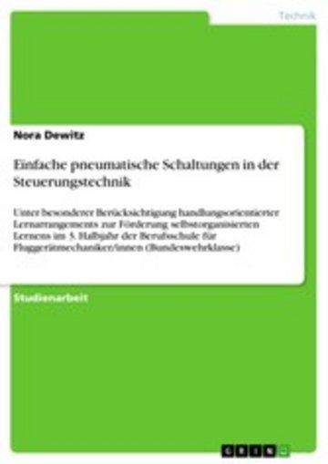 eBook Einfache pneumatische Schaltungen in der Steuerungstechnik Cover
