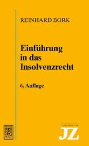 eBook Einführung in das Insolvenzrecht Cover
