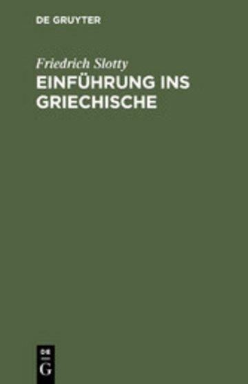 eBook Einführung ins Griechische Cover