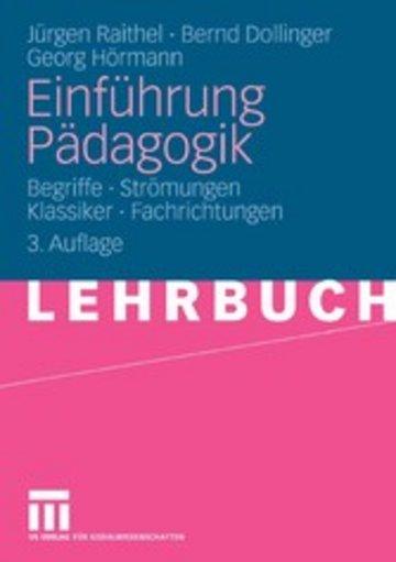 eBook Einführung Pädagogik Cover