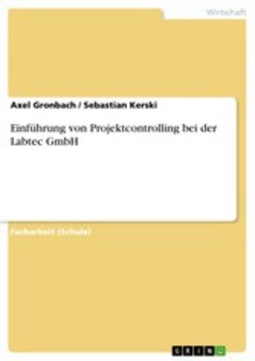 eBook Einführung von Projektcontrolling bei der Labtec GmbH Cover