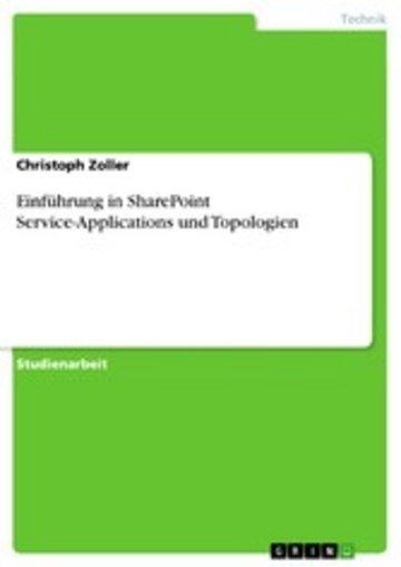eBook Einführung in SharePoint Service-Applications und Topologien Cover