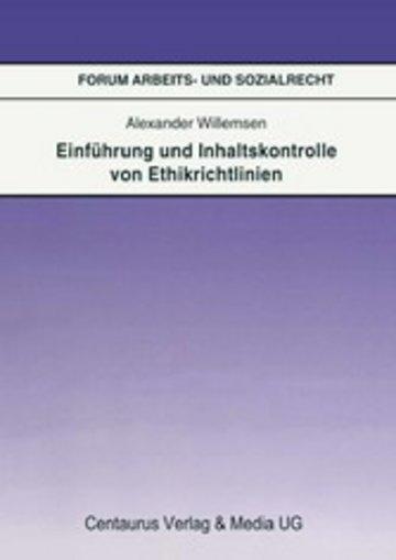 eBook Einführung und Inhaltskontrolle von Ethikrichtlinien Cover
