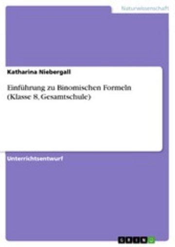 eBook Einführung zu Binomischen Formeln (Klasse 8, Gesamtschule) Cover