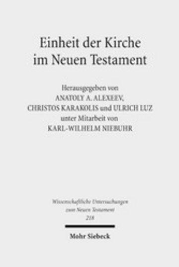 eBook Einheit der Kirche im Neuen Testament Cover