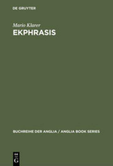 eBook Ekphrasis Cover