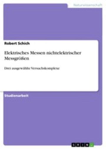 eBook Elektrisches Messen nichtelektrischer Messgrößen Cover