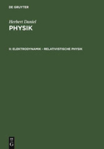eBook Elektrodynamik - relativistische Physik Cover
