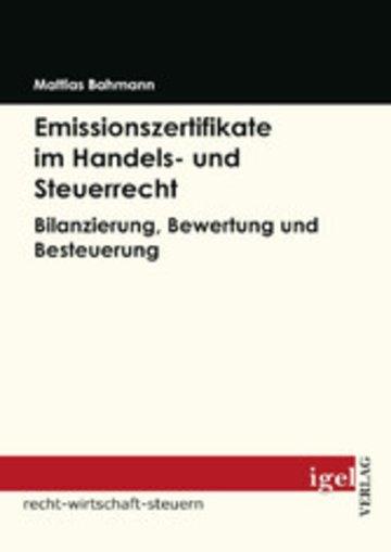 eBook Emissionszertifikate im Handels- und Steuerrecht Cover