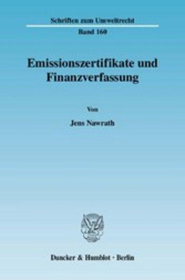 eBook Emissionszertifikate und Finanzverfassung. Cover
