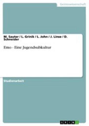 eBook Emo - Eine Jugendsubkultur Cover