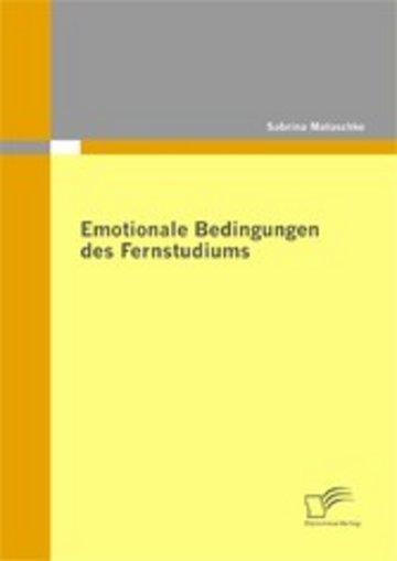 eBook Emotionale Bedingungen des Fernstudiums Cover