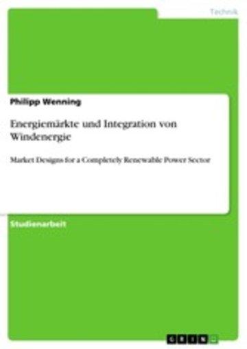 eBook Energiemärkte und Integration von Windenergie Cover