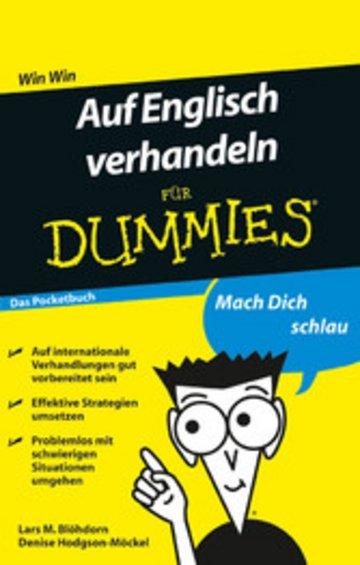 eBook Auf Englisch verhandeln für Dummies Das Pocketbuch Cover