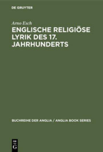 eBook Englische religiöse Lyrik des 17. Jahrhunderts Cover