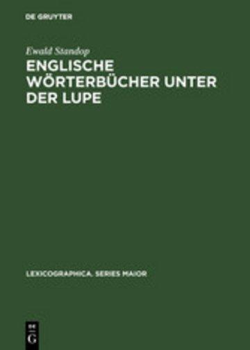 eBook Englische Wörterbücher unter der Lupe Cover