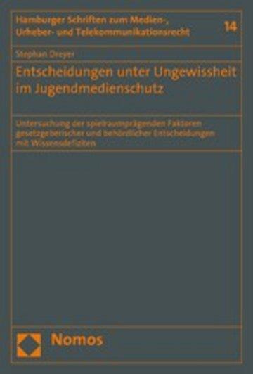 eBook Entscheidungen unter Ungewissheit im Jugendmedienschutz Cover