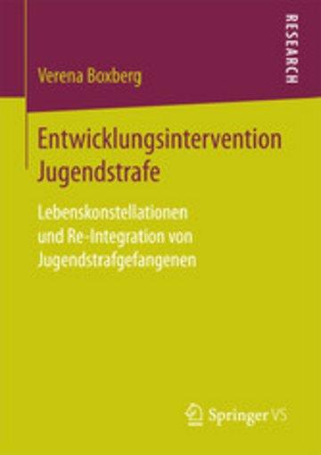eBook Entwicklungsintervention Jugendstrafe Cover