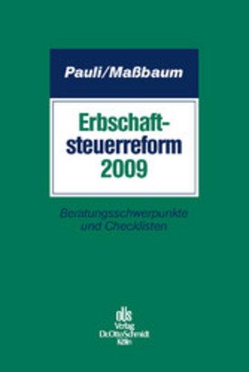 eBook Erbschaftsteuerreform 2009 Cover