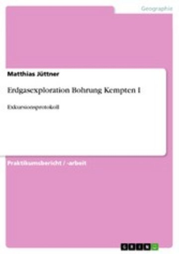 eBook Erdgasexploration Bohrung Kempten I Cover
