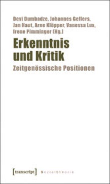 eBook Erkenntnis und Kritik Cover