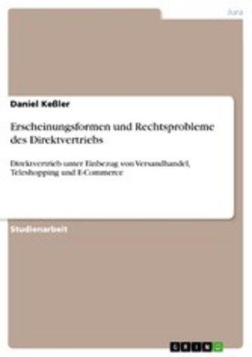 eBook Erscheinungsformen und Rechtsprobleme des Direktvertriebs Cover
