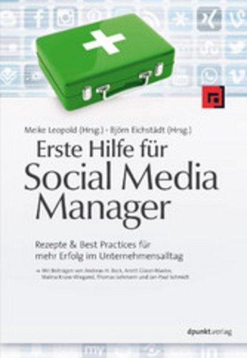 eBook Erste Hilfe für Social Media Manager Cover