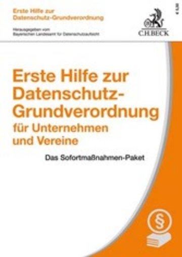eBook Erste Hilfe zur Datenschutz-Grundverordnung für Unternehmen und Vereine Cover