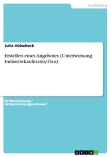 eBook Erstellen eines Angebotes (Unterweisung Industriekaufmann/-frau) Cover