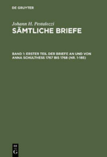 eBook Erster Teil der Briefe an und von Anna Schulthess 1767 bis 1768 (Nr. 1-185) Cover