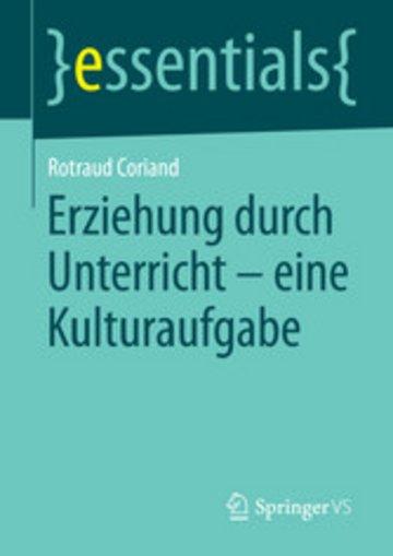 eBook Erziehung durch Unterricht - eine Kulturaufgabe Cover