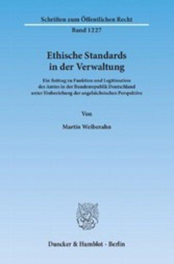 eBook Ethische Standards in der Verwaltung. Cover