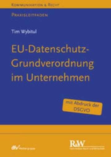 eBook EU-Datenschutz-Grundverordnung im Unternehmen Cover