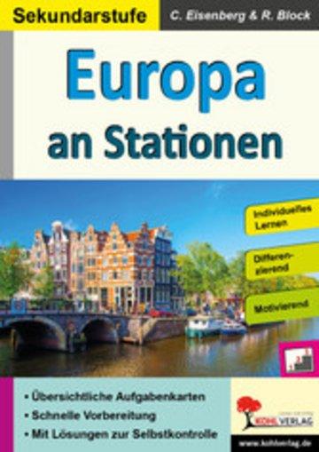 eBook Europa an Stationen / Sekundarstufe Cover