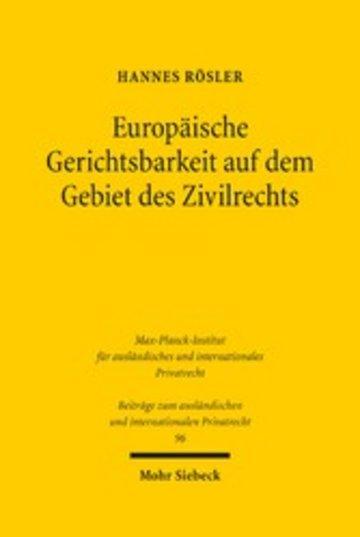 eBook Europäische Gerichtsbarkeit auf dem Gebiet des Zivilrechts Cover
