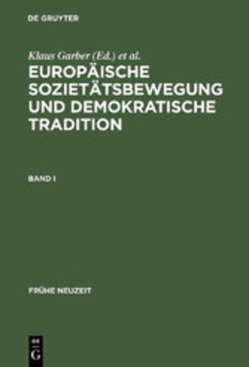 eBook Europäische Sozietätsbewegung und demokratische Tradition Cover