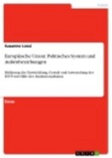 eBook Europäische Union: Politisches System und Außenbeziehungen Cover