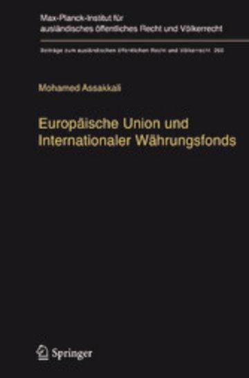 eBook Europäische Union und Internationaler Währungsfonds Cover