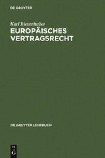 eBook Europäisches Vertragsrecht Cover