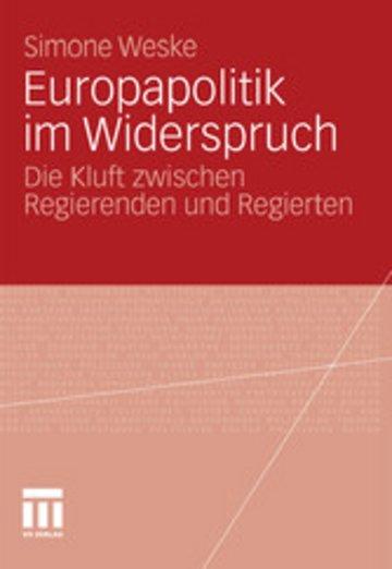 eBook Europapolitik im Widerspruch Cover