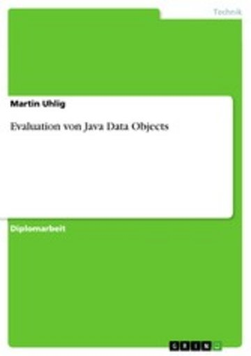 eBook Evaluation von Java Data Objects Cover