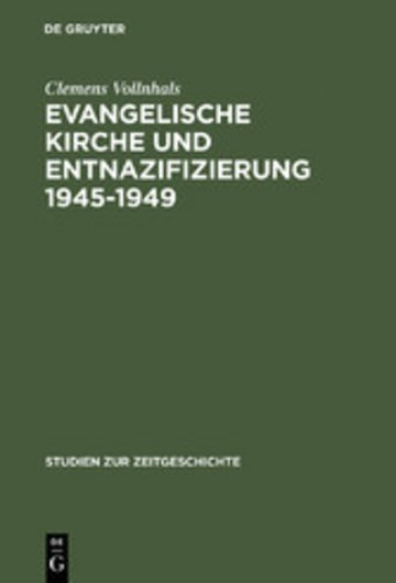 eBook Evangelische Kirche und Entnazifizierung 1945-1949 Cover