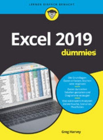 eBook Excel 2019 für Dummies, Cover