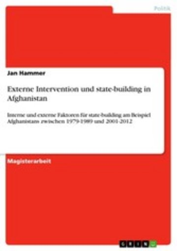 eBook Externe Intervention und state-building in Afghanistan Cover