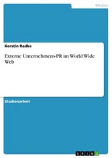 eBook Externe Unternehmens-PR im World Wide Web Cover